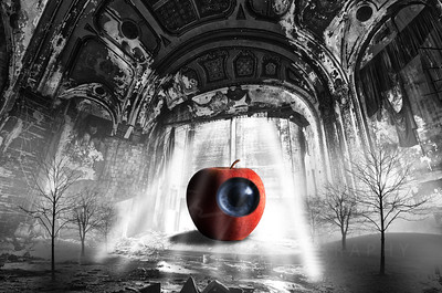 Easttown theater Detroit  art Surreal  Apple on Stage