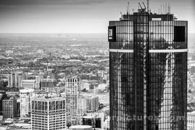 REN CEN Detroit buildings Aerial View
