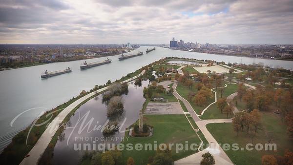 Detroit is on the Move , Belle Isle , Unique Detroit City Skyline