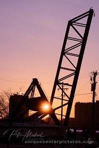 Pere Marquette Railroad Bridge Sunrise