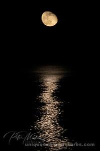 worm moon wanning gibbous Lake Huron