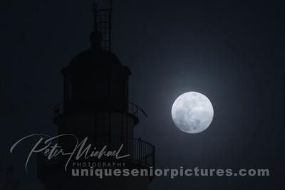 Super Blue Moon fort gratiot light house michigan