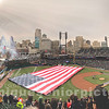 panoramic print of Detroit Tigers Comerica Park American Flag
