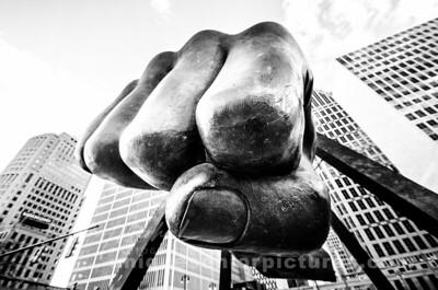 fist bump , detroit pride , joe louis fist , sculpture