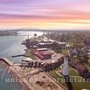 Fall  Colors Bluewater Bridge Port Huron Michigan - Sunset