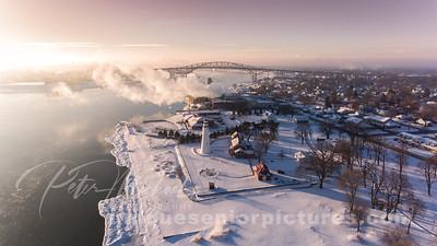 Blue Water Bridge - Fort Gratiot Light House Michigan