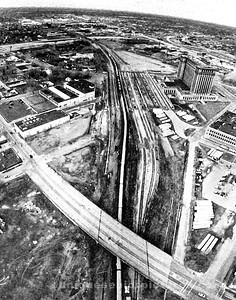 detroit fine art , comerica  park,ren cen , aerial view, detroit train depot , MCS, michigan central station