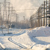 Snow, Train Tracks , Polar vortex , telephone poles