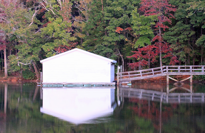 Boathouse in Fall