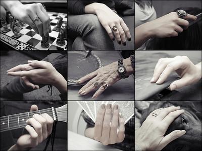 Familiar Hands  Challenge - Nine  Hands:  Carly, Holli, Andrea, Jani, Mom, MaryBeth, Chris, Megan. Me