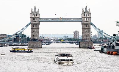 London, Tower Bridge, River Thames