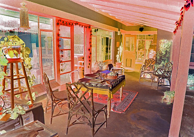 A reversal of light and shadow transforms this Tucson back porch