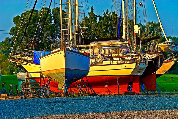Landlocked sailers