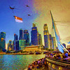 Singapore Photographic Painting Series