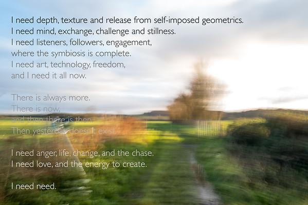Poem 'Raw Manifest0 - No Zen', 1998 Photographs, Leica Q2, 2020