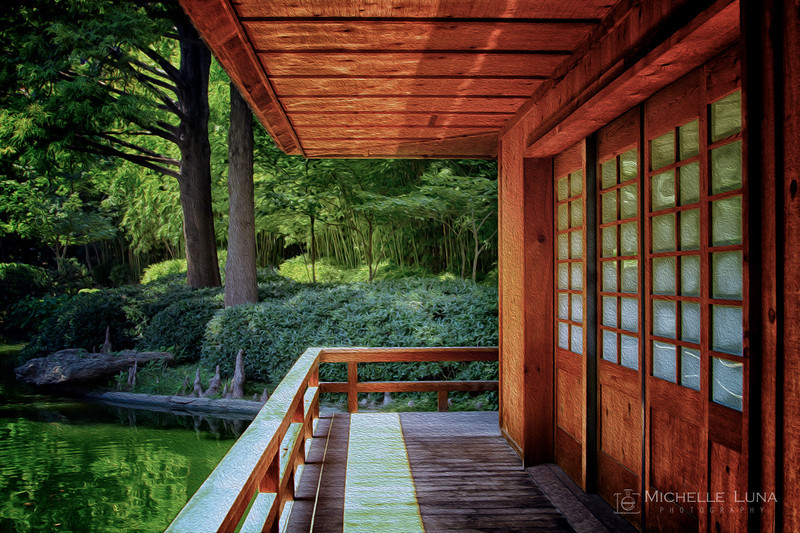 Shelter at Japanese Gardens, Fort Worth, TX