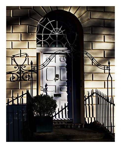 Door in Evening Shadows - Cavendish  Terrace