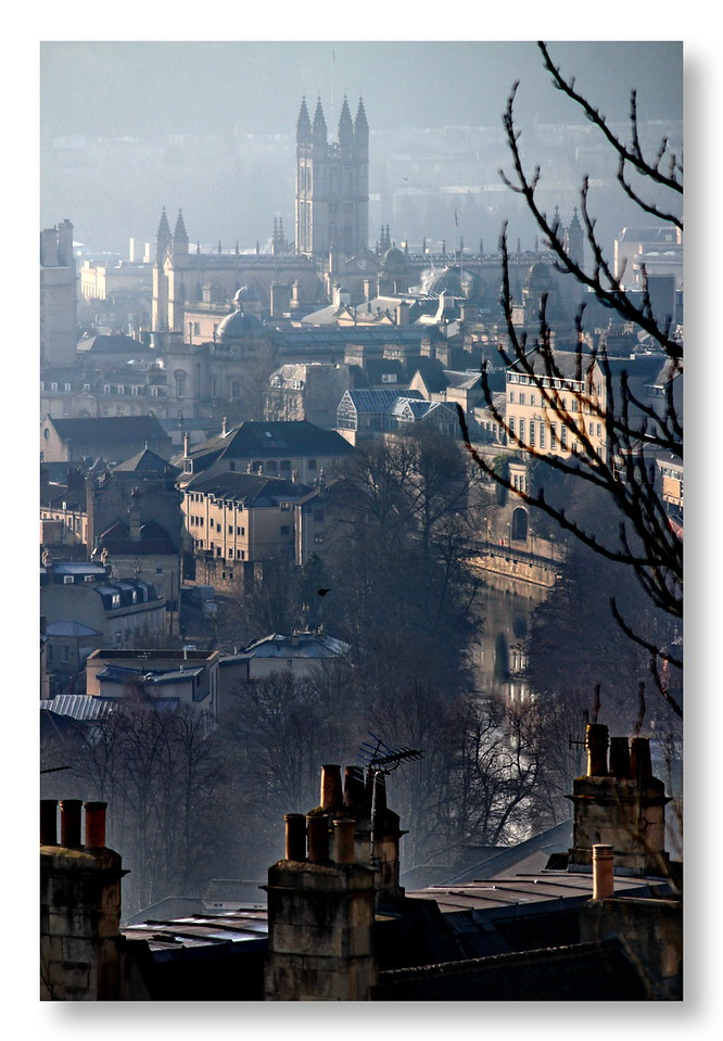 Bath Abbey and River Avon from Perfect View Camden