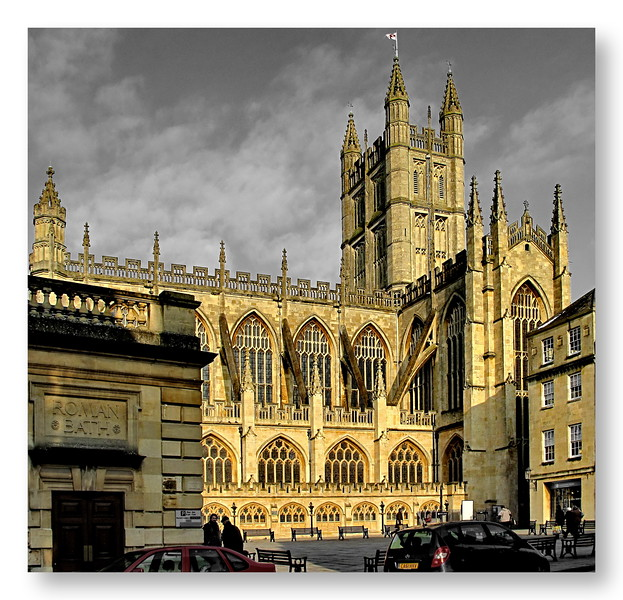 Bath Abbey in Winter Sunshine