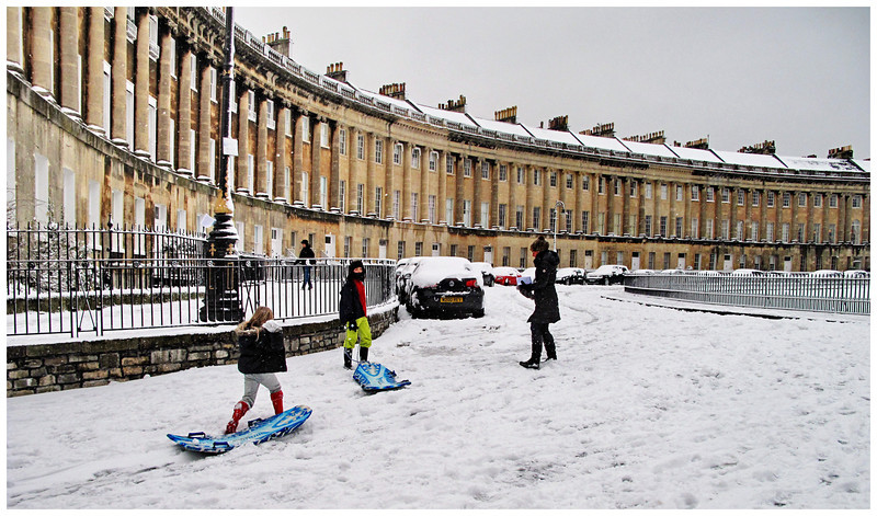 Royal Crescent in Snow