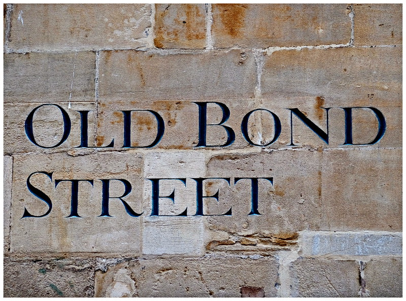 Old bond Street Sign