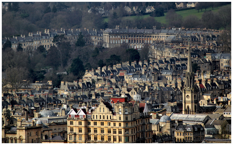 Royal Crescent from Bathwick Hill