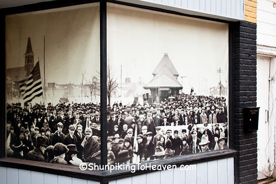 Historical Photo of Crowd at Depot, Ironwood, Michigan