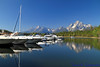 Colter Bay Marina and Grand Tetons<br /> <br /> Daily Photo: 9/8/2011