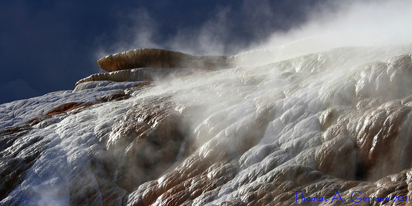 Travestine at Mammoth Hot Springs in Yellowstone National Park.<br /> <br /> Daily Photo: 9/12/2011