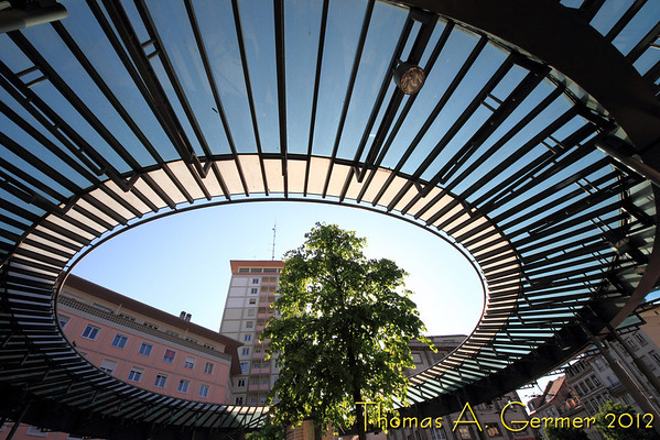 "Returned from a business trip to Strasbourg, France.  Here is ""roof"" of the Homme de Fer tram station.<br /> <br /> Daily Photo: 5/20/2012"