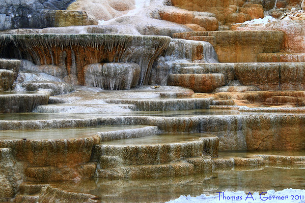 Travestine at Mammoth Hot Springs in Yellowstone National Park.<br /> <br /> Daily Photo: 9/16/2011