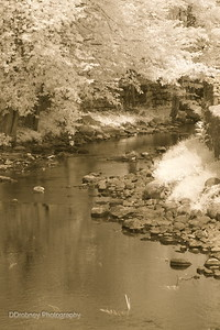 Middle River, Stafford Springs - with antique process.