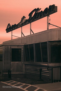 Aero Diner, Windham, CT  - sunset with infrared