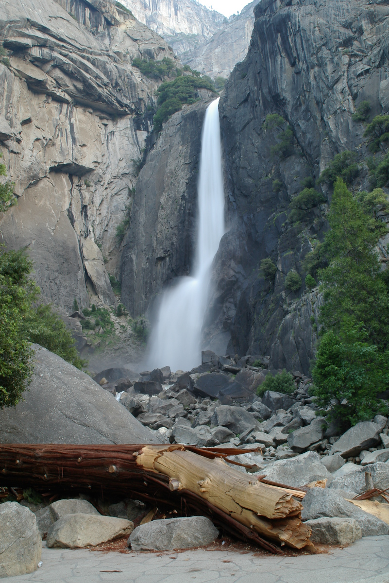 Day 6 - We visited a couple more waterfalls.  This is the lower part of Yosemite Falls which is the talllest waterfall in North America.  You can walk very close to this part.  As the water falls to the bottom here it creates a wind that blows.