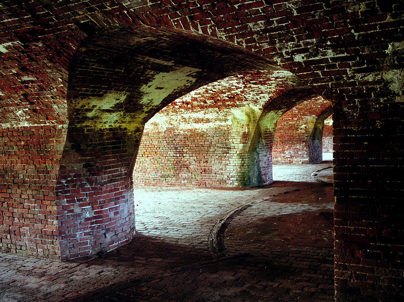 10-in gun casements at Fort Jackson on Mississippi River in Louisiana.
