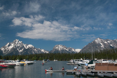 Yellowstone Vacation - Grand Teton National Park - Jackson Lake Area - Coulter Bay Marina