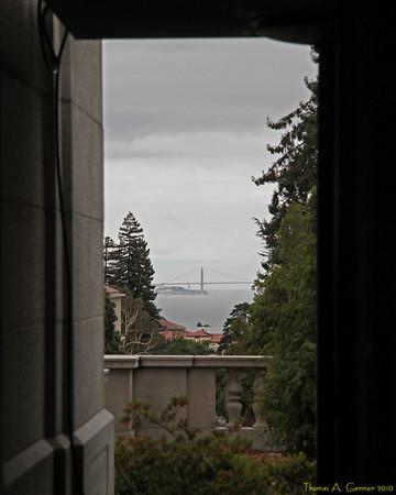 Golden Gate Bridge from Sather Tower, Berkeley