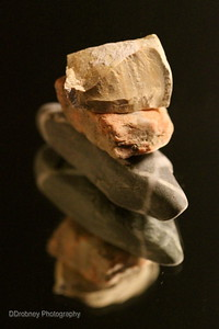 My own little cairn...on a mirror...with rocks from vacations out west.  ;-)