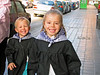 Original Photo. Taylor and Rachel Huber in Valencia Spain. On the way to school during Las Fallas holiday March 2006.