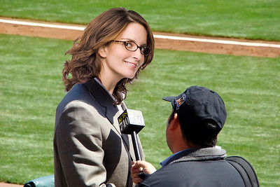 Doug Sovern of KCBS Interviews Vice Presidential Candidate Sarah Palin at the 2008 SF Giants Home Opener
