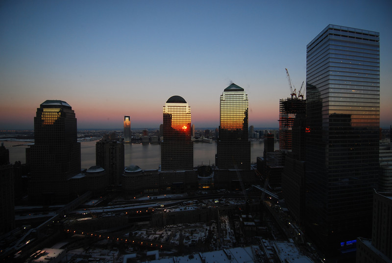 Sunrise in NYC...  I can't believe I was awake either.