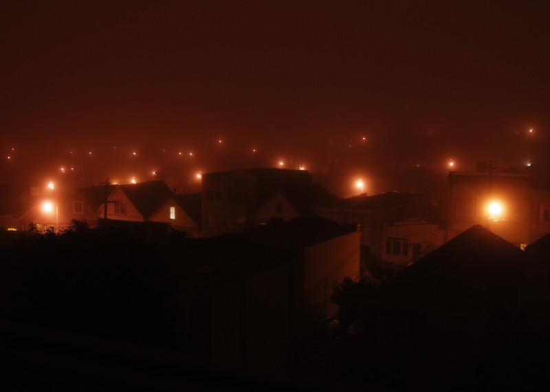 Village Lights...<br /> <br /> Taken in Frisco during a heavy fog.