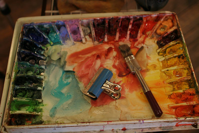 IMG_3024.JPG 1st Thursday Art Night watercolor demo with Cal and Emmy