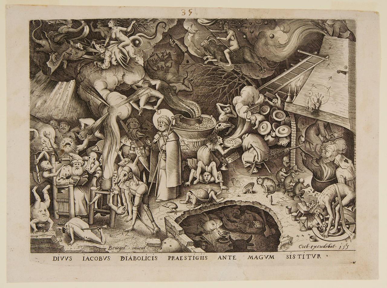 Saint James and the Magician Hermogenes  Pieter Bruegel, the Elder, Netherlandish, Belgium c  1525-1569