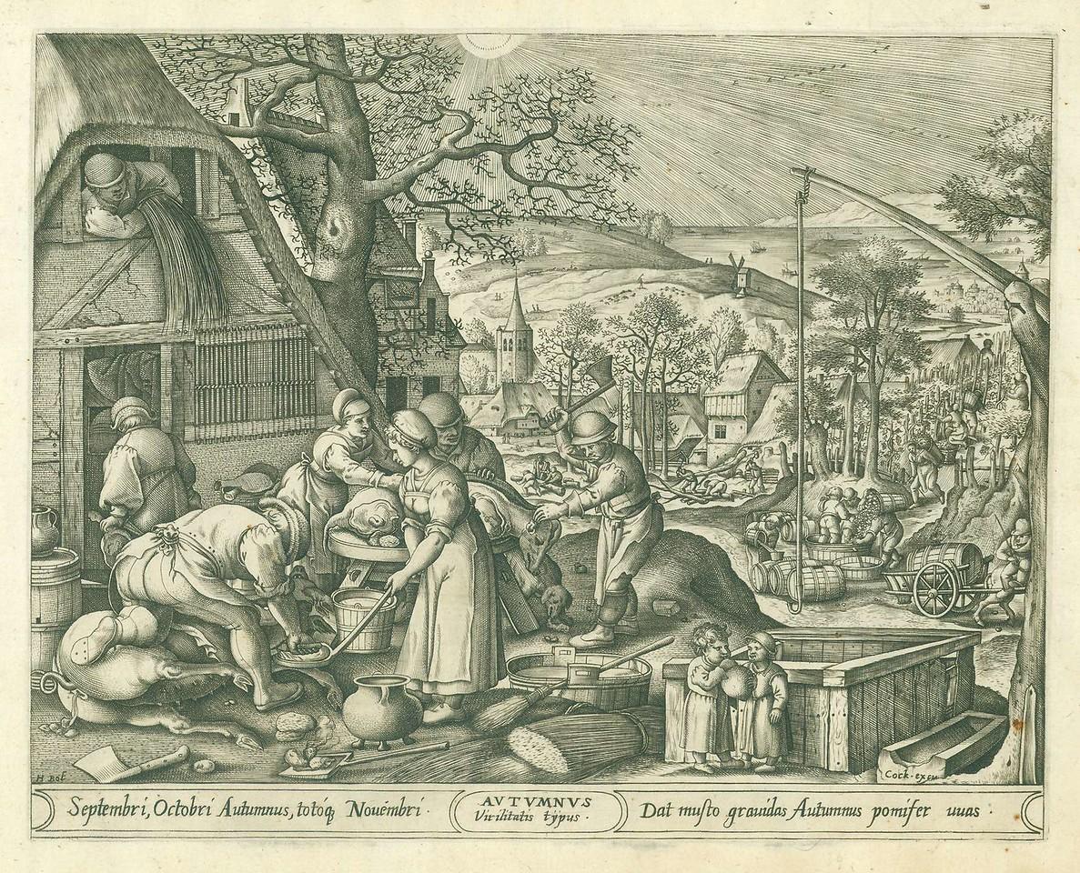 Pieter van der Heyden The Four Seasons Autumn