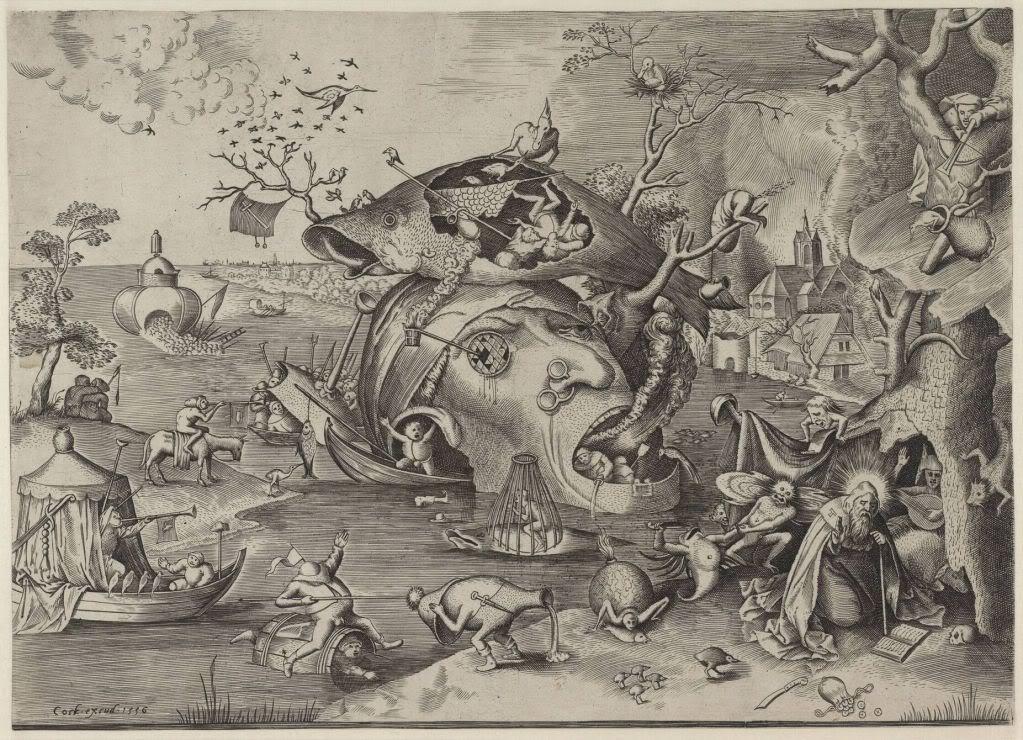 Pieter Brueghel -- The Temptation of St Anthony 1556