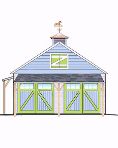 "A Plan for when I (someday) make over my garage..lol  Update: I did put the blue siding on it to match the house but not the doors, over hang, weather vane, ""Z"" door or over handg on the side door as of yet..lol"