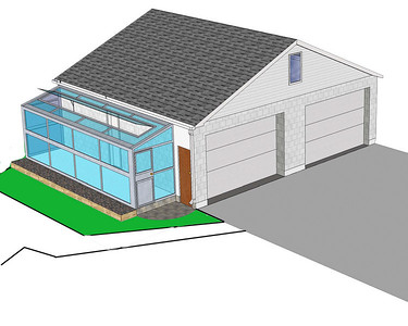 Another dream ... green house built off the side of our garage / shop.