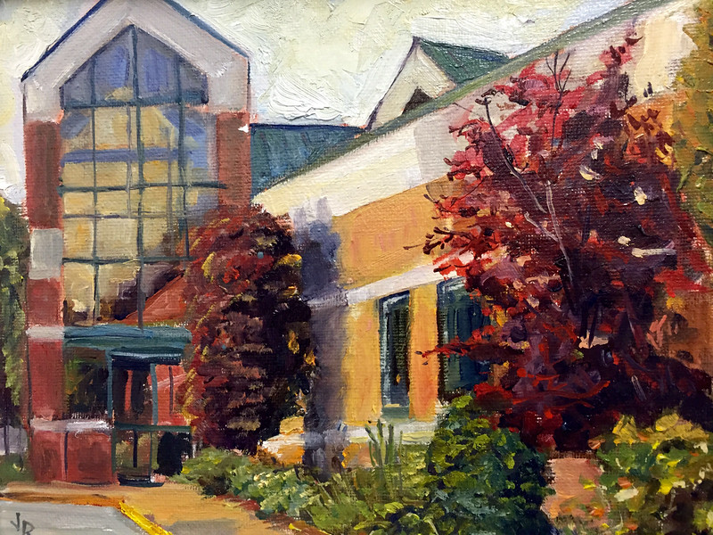 Georgetown Physicians<br /> Hudsonville, MI<br /> Oil on canvas 9x12, 2014