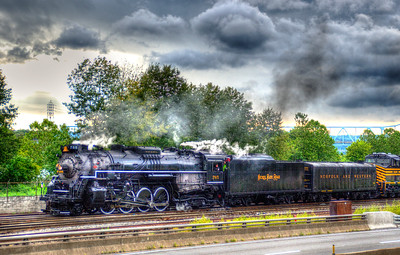 NKP 765 enters the West Conway Yard